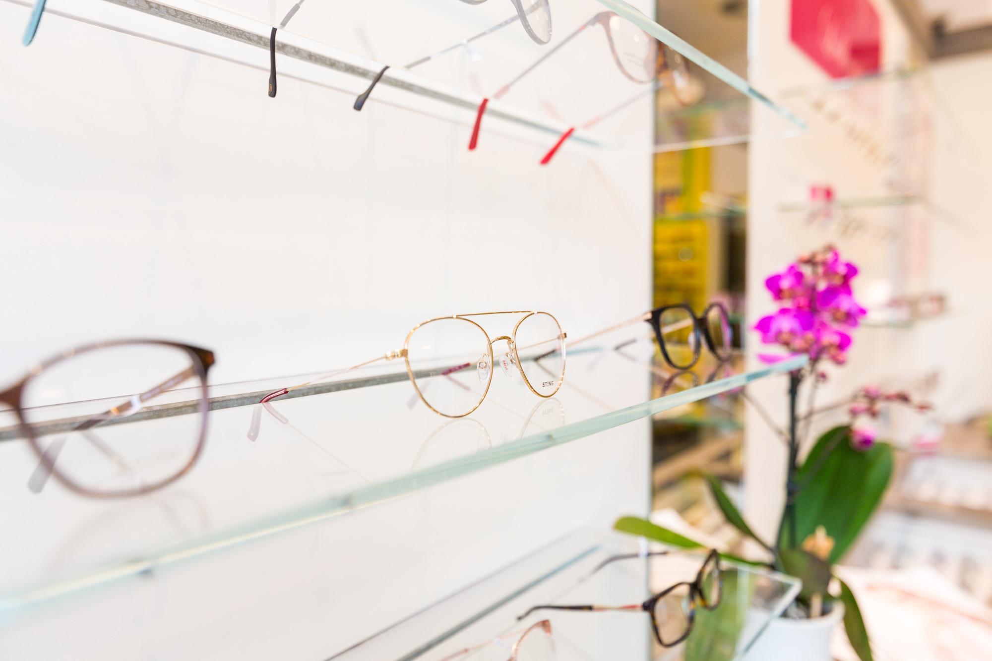 Innenansicht Damenbrillen